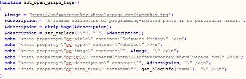 Meta tag code