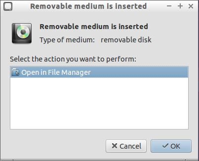 Removable Media Dialog