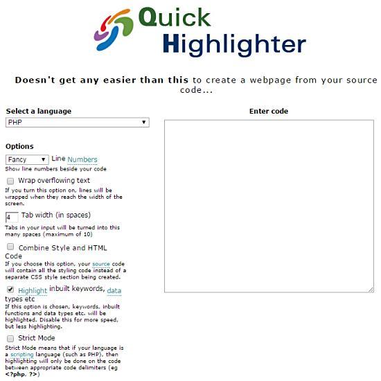 Screenshot of Quick Highlighter